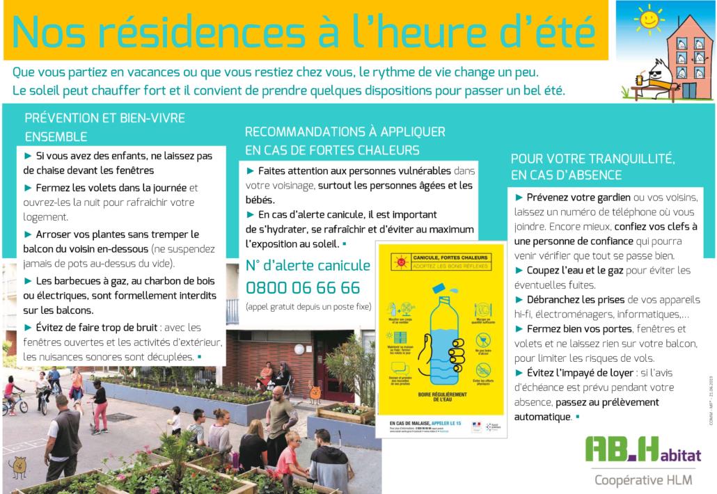 affiche nos résidences à lheure dété 2019 FB 1030x710 - AB-Habitat