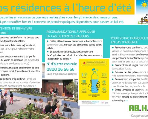 affiche nos résidences à lheure dété 2019 FB 495x400 - AB-Habitat